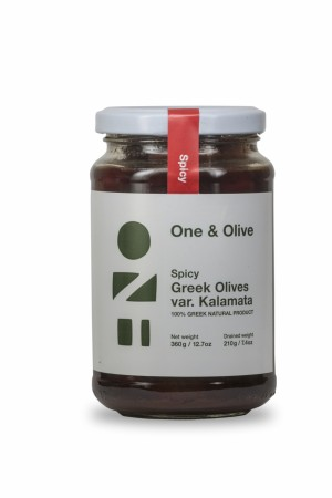 Spicy Kalamata oliven med chilli | 210g